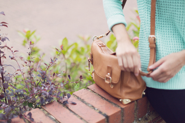 Brown satchel Forever 21