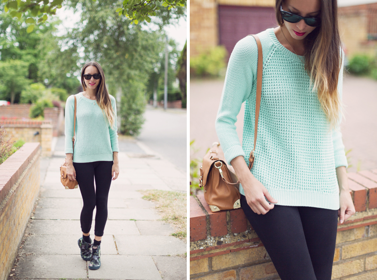 Mint jumper outfits