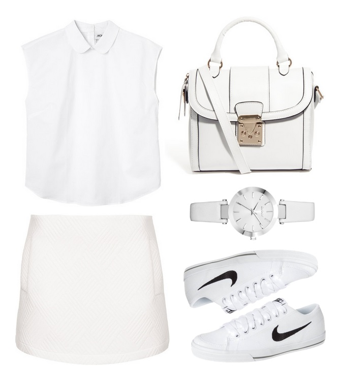 Wimbledon inspired all white summer outfit