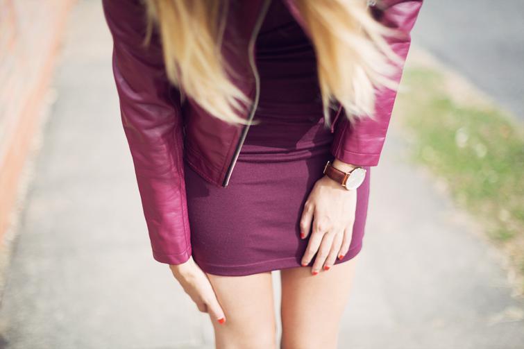 Purple day dresses