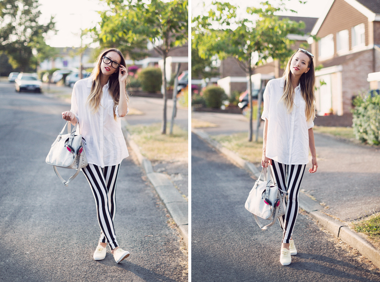 Beetlejuice striped leggings outfits