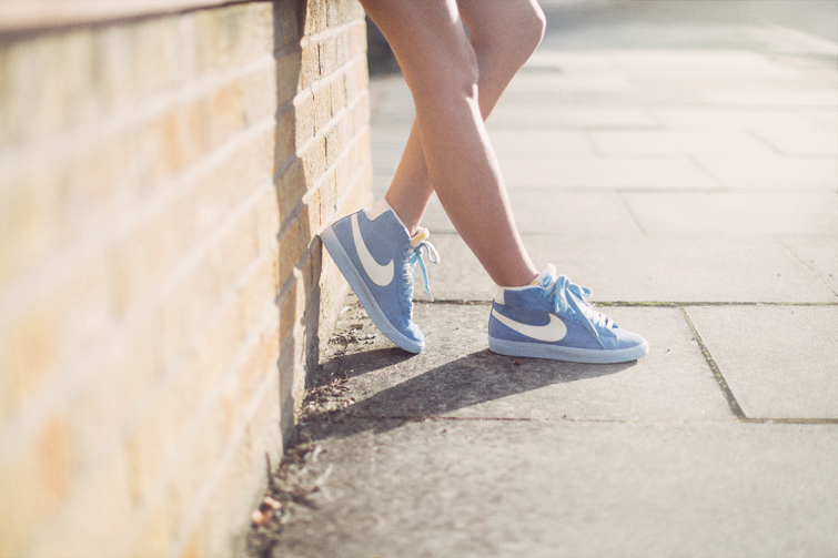 Nike blazers suede baby blue