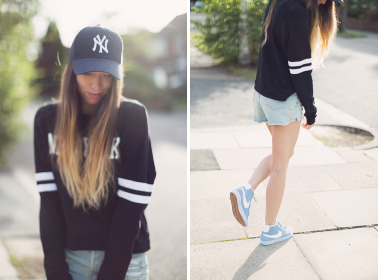 Baseball cap sweater outfits