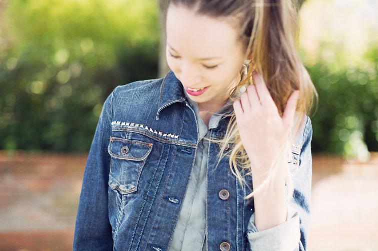 Studded denim jacket DIY
