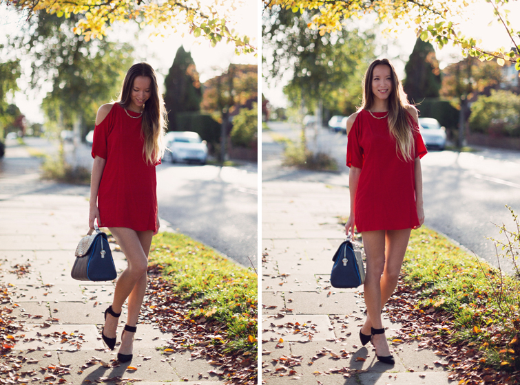 Red dress outfits bloggers