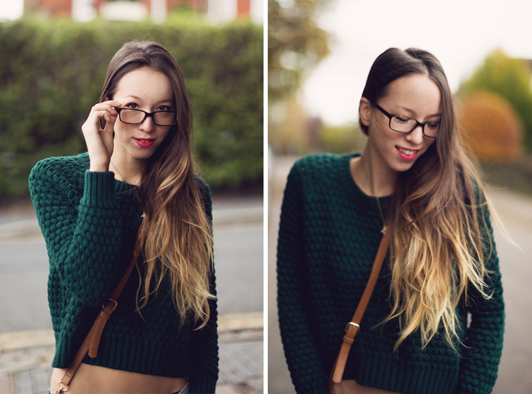 Geek glasses dip dye ombre hair