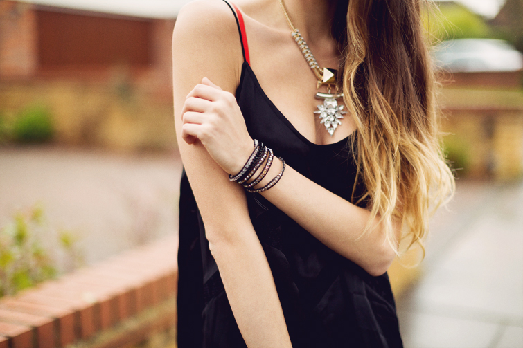 Lulu Pearls wrap bracelet Topshop statement necklace