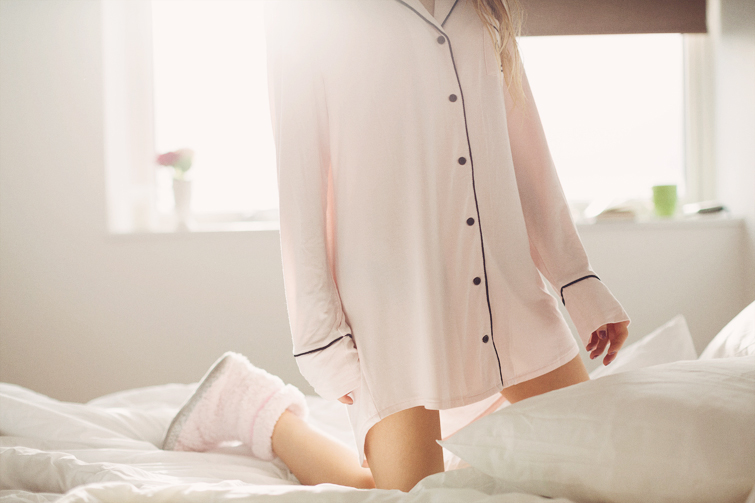 Pastel pink pyjamas sleep shirt