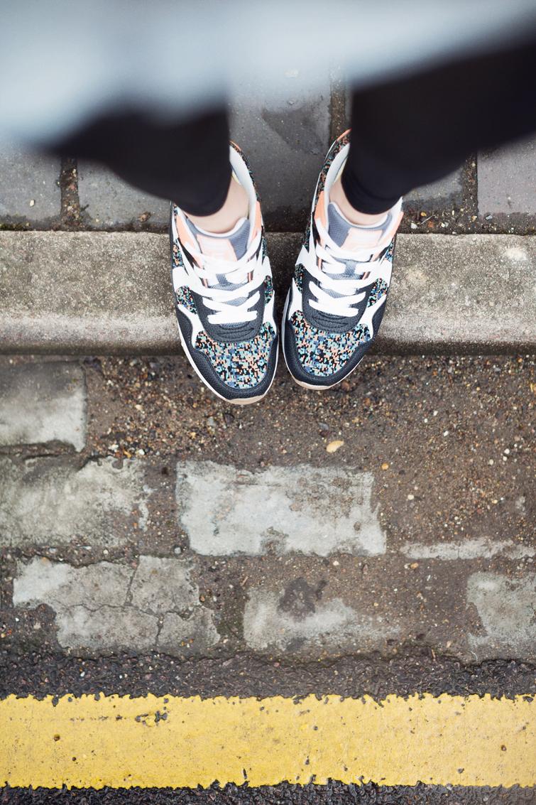 Caroline Blomst Deichmann pixel print sneaker