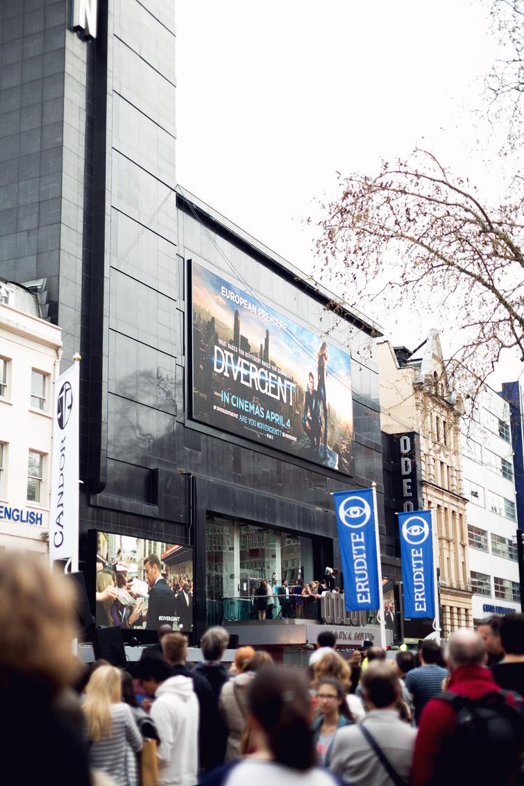 Divergent premiere Leicester Square London