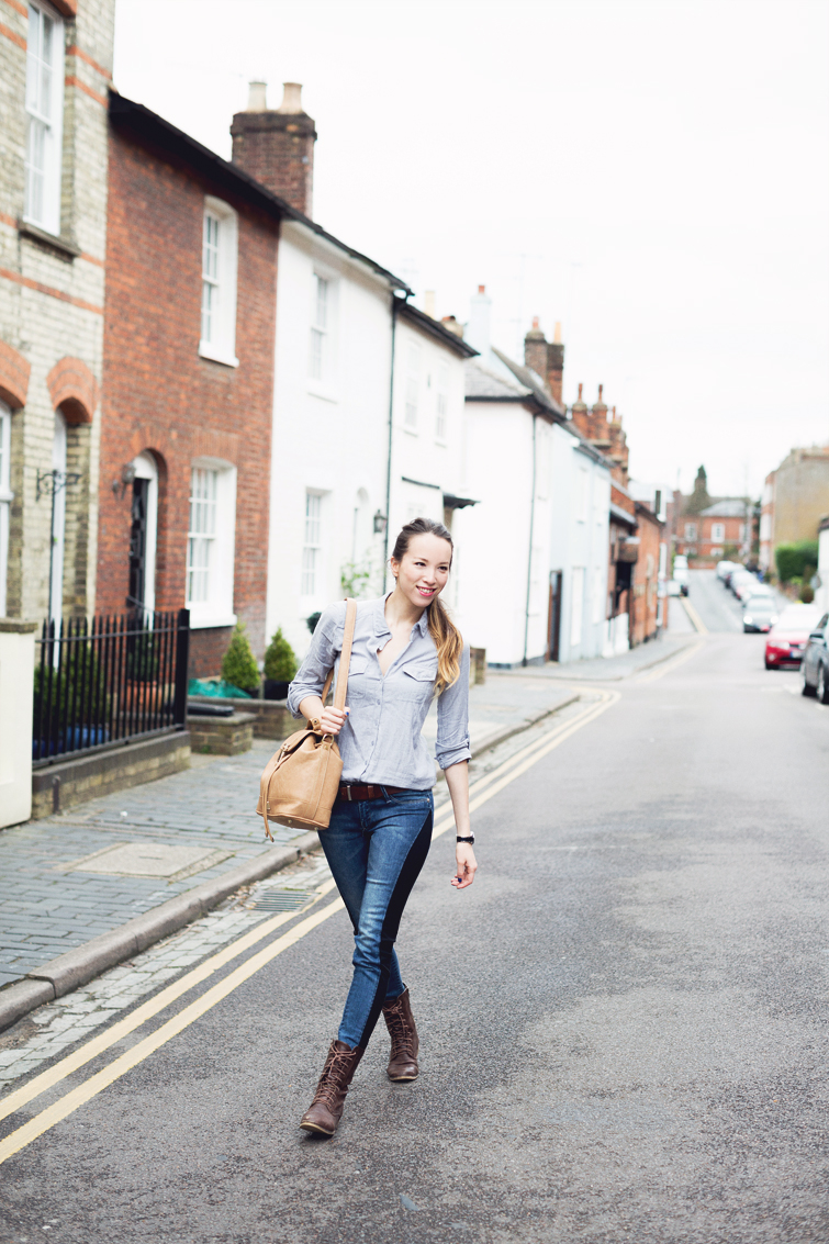 Girl in the Lens | double denim outfit