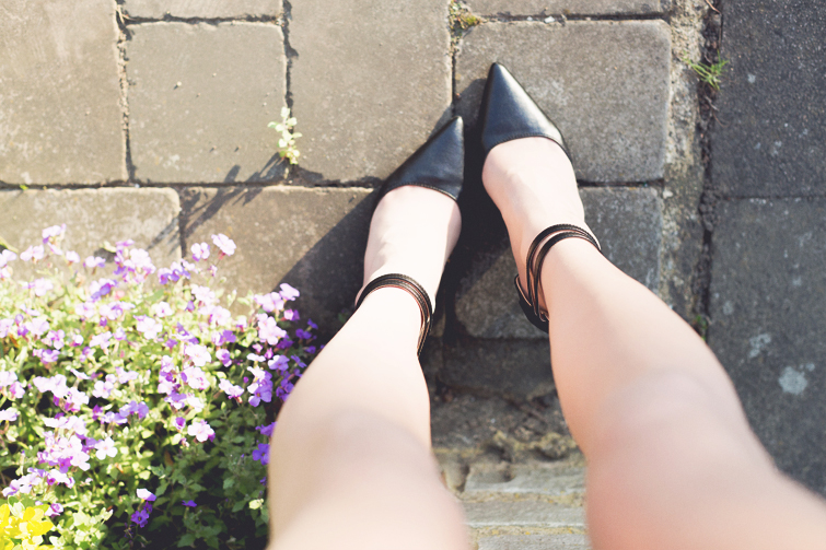Girl in the Lens | ankle strap heels