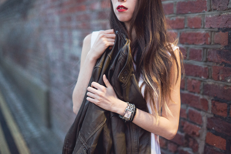 Girl in the Lens | Free People leather jacket