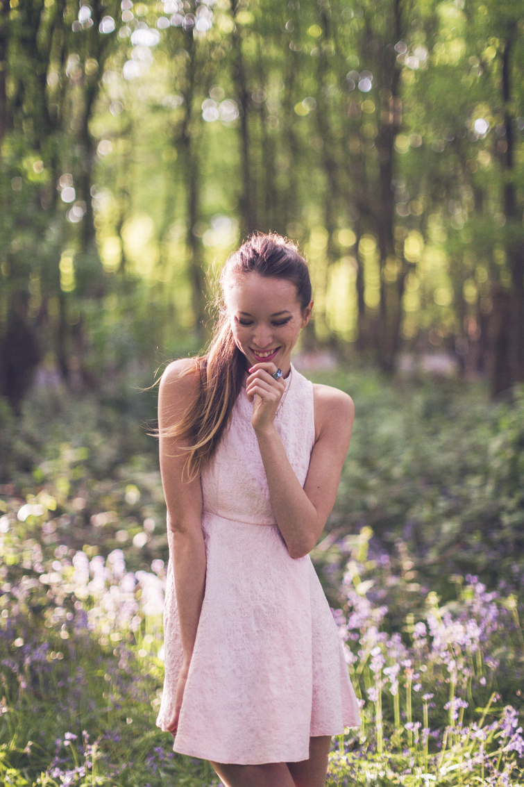 Girl in the Lens | pastel pink dress