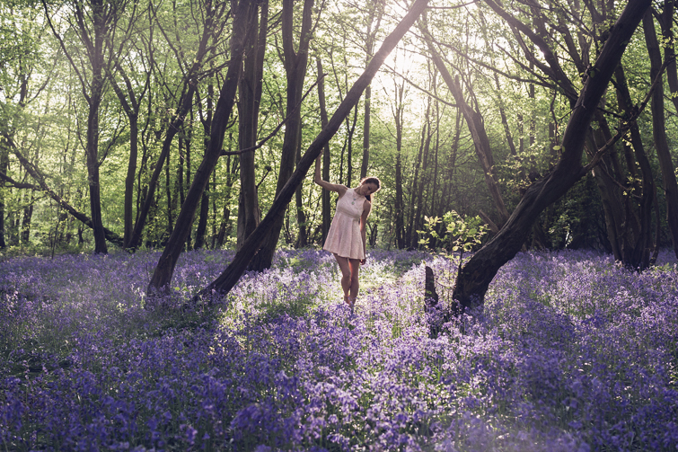 Girl in the Lens | bluebell woods