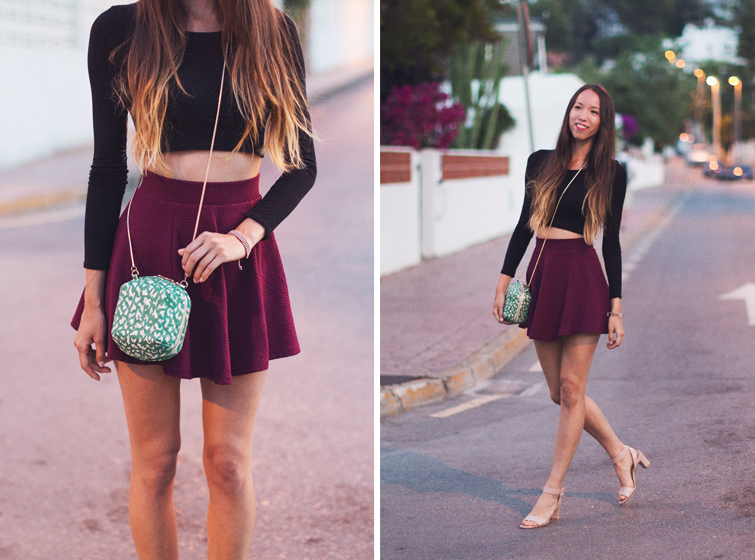 Girl in the Lens | Crop top and skater skirt