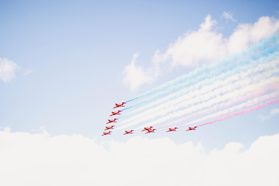 Girl in the Lens | Red Arrows