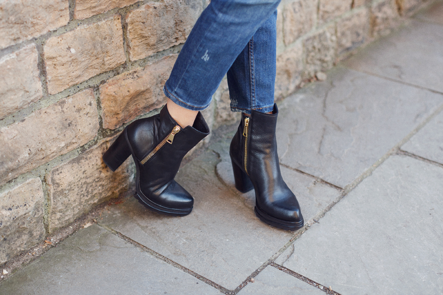 Russell and Bromley leather ankle boots