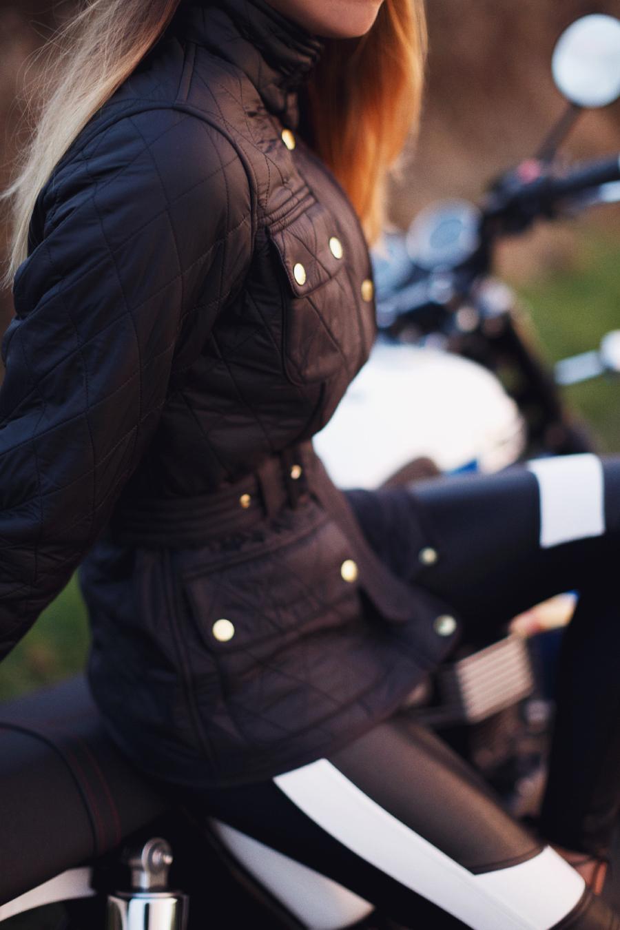 Barbour biker jacket