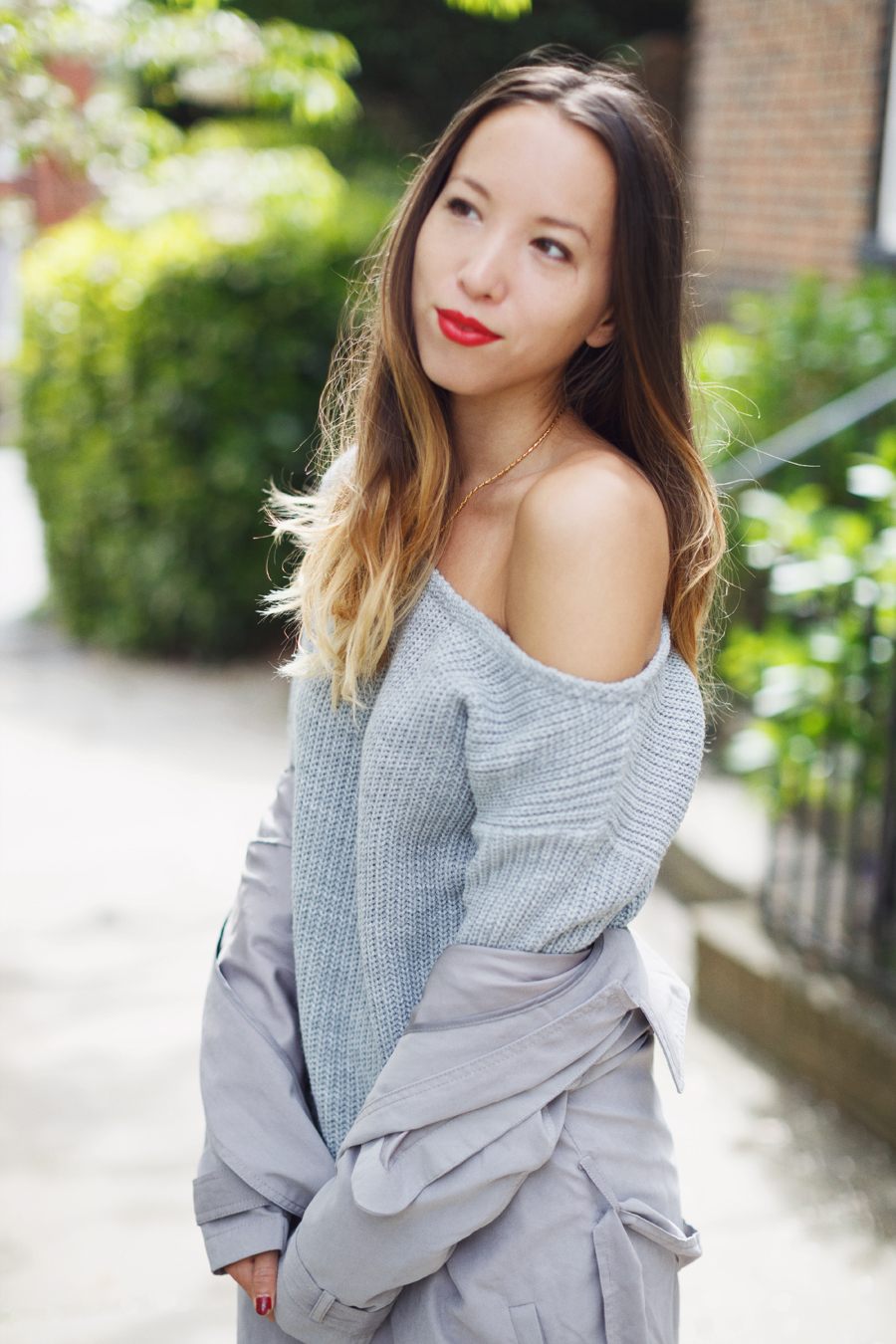 Off shoulder grey dress Missguided