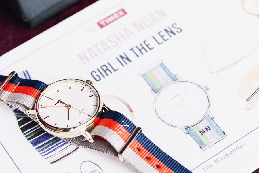 Timex Weekender stripe watch