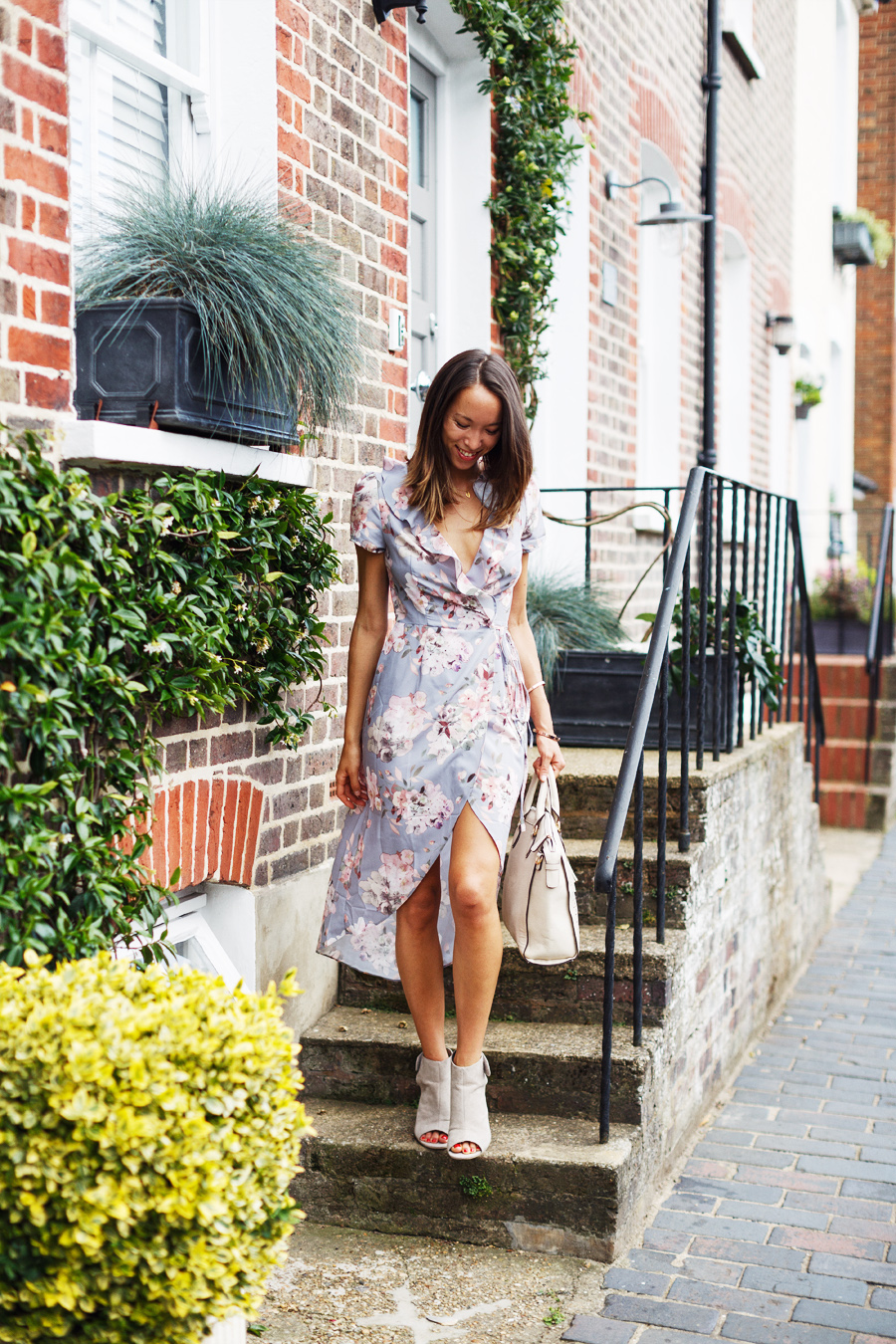 Oh My Love London ASOS wrap floral print summer dress
