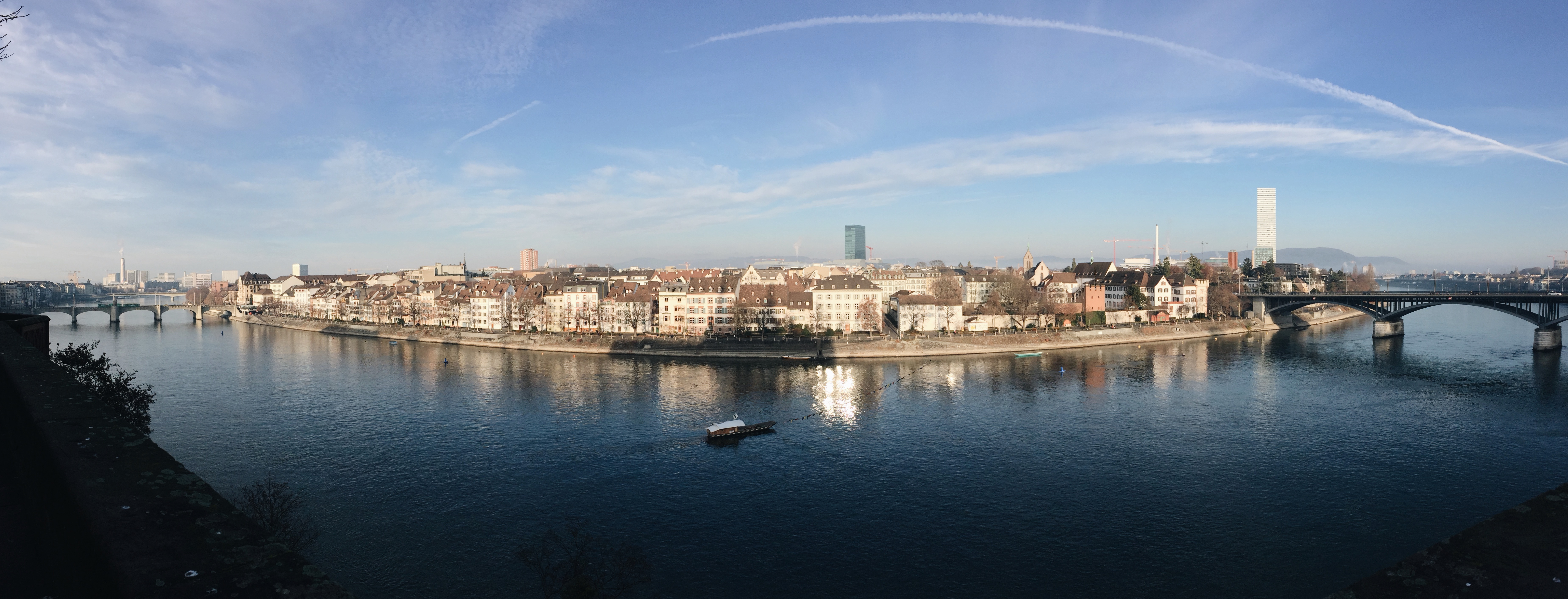 Basel, Switzerland panorama of the Rhine